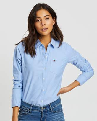 Hollister Long Sleeve Classic Cotton Shirt