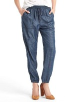 Gap Tencel® chambray utility joggers