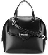 Love Moschino logo plaque shoulder bag - women - Polyurethane - One Size