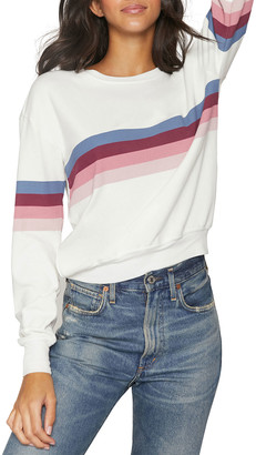 Spiritual Gangster Savasana Striped Crewneck Sweatshirt
