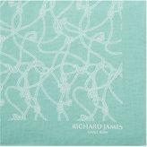 Richard James Knotted Rope Print Silk Pocket Square
