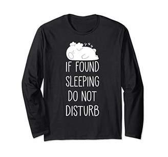 Koala Pajama Girl Funny Top Girls Pajamas Do Not Disturb Long Sleeve T-Shirt