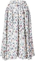 ADAM by Adam Lippes floral print pleated midi skirt
