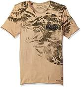 Buffalo David Bitton Men's Tafut Short Sleeve Crew Neck Fashion Graphic T-Shirt