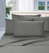 Elegant Comfort 1500 Thread Count Wrinkle & Fade Resistant Egyptian Quality Ultra Soft Luxurious 4-Piece Bed Sheet Set, Queen, Gray