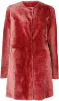 Drome fur coat - women - Lamb Skin/Leather/Viscose/PBT Elite - S