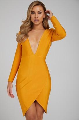 Made By Issae The 'Ava' Orange Bandage Dress