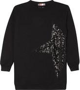 MSGM Sequin star cotton jumper dress 4-14 years