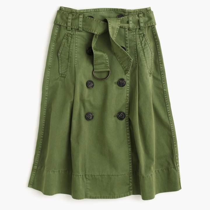 J.Crew Chino trench skirt