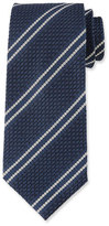 Tom Ford Retro 3D Stripe Silk Tie, Blue