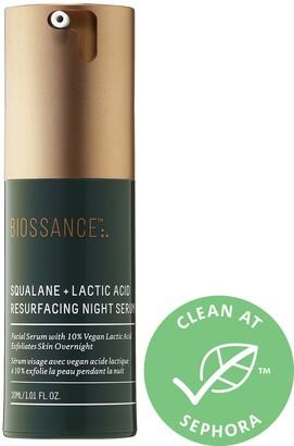 Biossance - Squalane + 10% Lactic Acid Resurfacing Night Serum