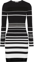 Rebecca Minkoff Groovy intarsia-knit cotton-blend mini dress
