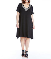 Karen Kane Plus Embroidered Handkerchief Dress