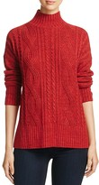 Sanctuary Mock Neck Cable Knit Sweater