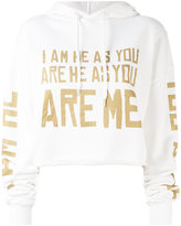 Each X Other Other - cropped word print hoodie - women - Cotton - M