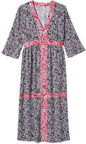Joe Fresh Women's Kaftan Dress, Navy (Size M)