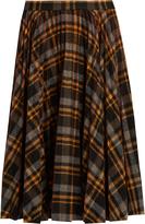 Maison Margiela Pleated tartan wool skirt