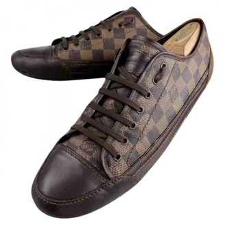 Louis Vuitton Match Up Brown Cloth Trainers