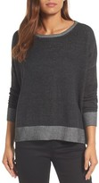 Eileen Fisher Women's Plait Detail Organic Cotton Boxy Top