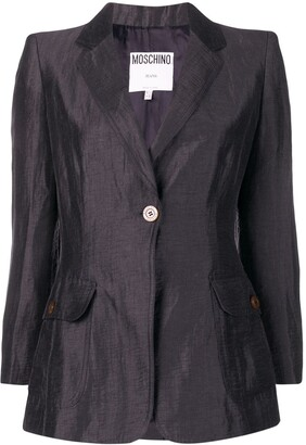 Moschino Pre-Owned Single Button Blazer