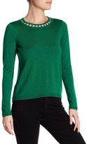 Milly Bar Inset Wool Pullover
