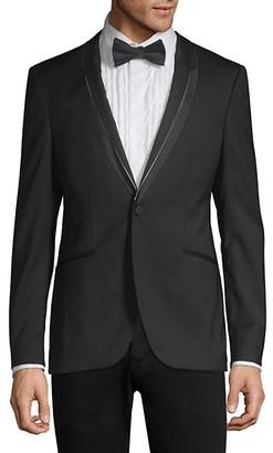 HUGO BOSS Phil Extra Slim-Fit Trimmed-Lapel Jacket