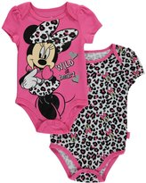 "Disney Minnie Mouse Baby Girls' ""Wild at Heart"" 2-Pack Bodysuits"
