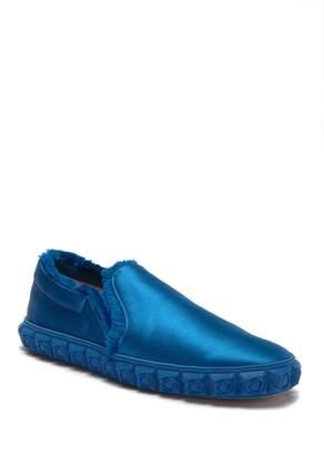 Stuart Weitzman Fringiebelle Satin Sneaker