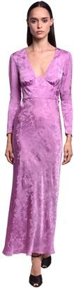 NERVI Satin Jacquard Long Dress