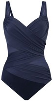 Miraclesuit Swim Network Madero Ruched Criss Cross One-Piece Swimsuit