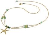 Forzieri Starfish Pendant Emerald & 18K Yellow Gold Necklace