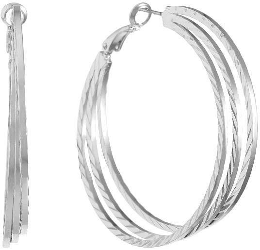 Gloria Vanderbilt 2 Inch Hoop Earrings