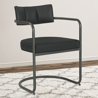 Mayon Tufted Upholstered Arm Chair Mercury Row Upholstery Color: Black