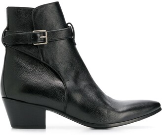 Saint Laurent West Jodhpur buckled boots