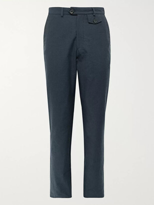 Oliver Spencer Cotton-Seersucker Suit Trousers