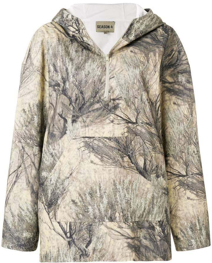 Yeezy tree print hoodie
