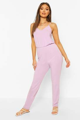 boohoo Recycled Basic Strappy Jumpsuit