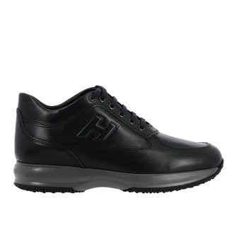 Hogan Sneakers Interactive Leather Sneakers With Embossed H