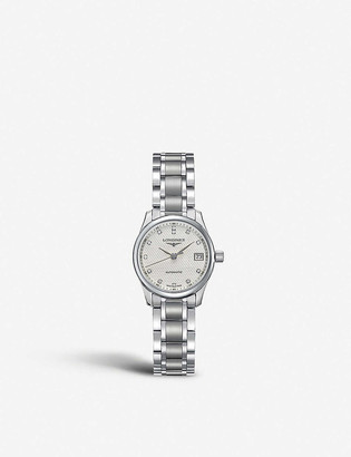 Longines L2.128.4.77.6 Master automatic stainless steel and diamond watch