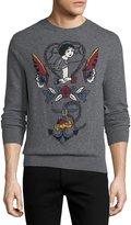 Valentino Tattoo Intarsia Cashmere-Wool Sweater