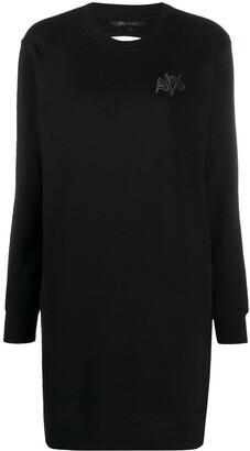 Armani Exchange Sweatshirt Cotton Dress