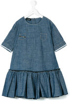 Diesel ruffle hem denim dress