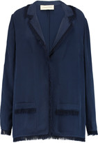 By Malene Birger Florella fringed twill blazer