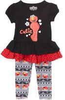 Children's Apparel Network Black Elmo Tunic & Leggings - Toddler