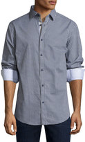 English Laundry Gingham Button-Front Sport Shirt, Navy