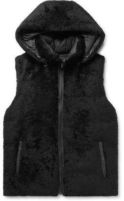 Yves Salomon Reversible Shearling And Quilted Shell Hooded Down Gilet