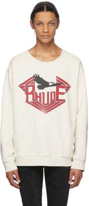 Rhude White Rhanger Kangaroo Sweatshirt