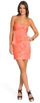Robert Rodriguez Ruffled Coral Dress