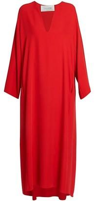 Valentino Cady Silk Tunic Gown