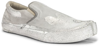 Maison Margiela Slip On in White & Silver | FWRD